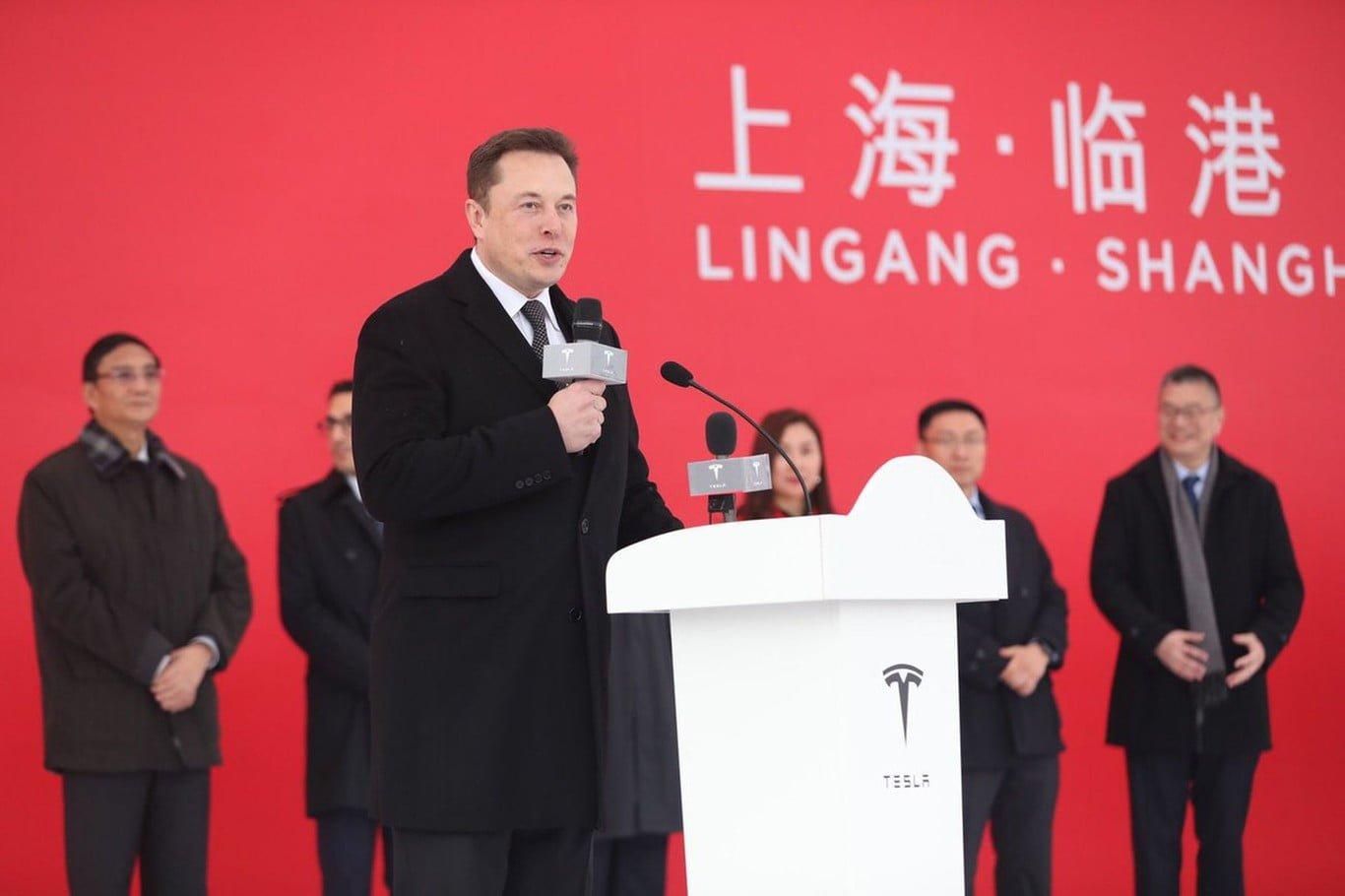 Elon Musk China Tesla stock
