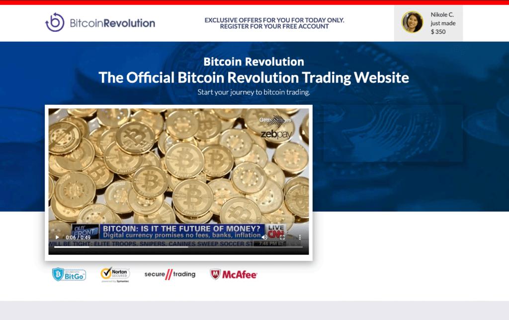 Сайт Bitcoin Revolution