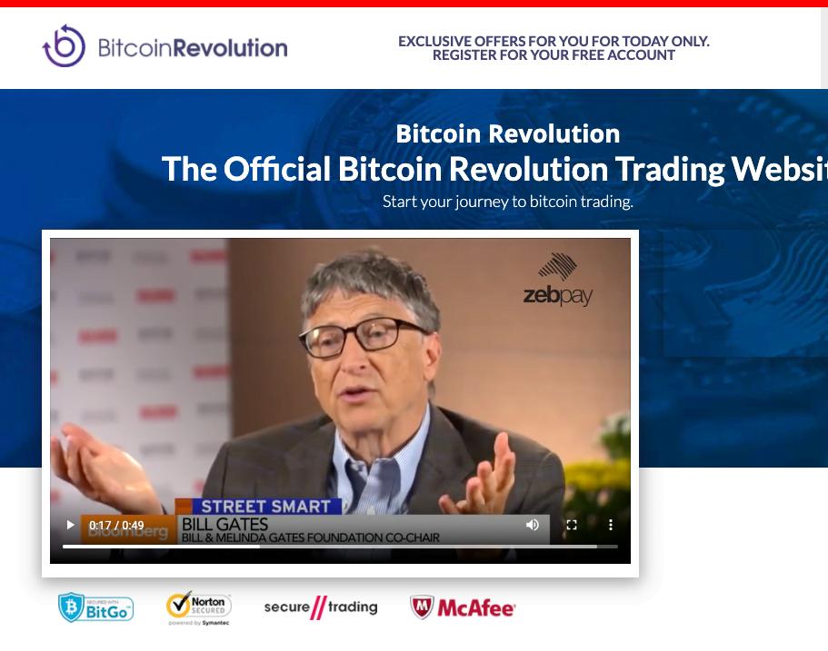 Bitcoin Revolution fake celebrities Bill Gates