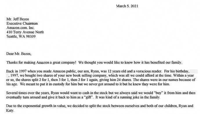 Письмо Джеффа Безоса акционерам Amazon